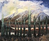 Jasper Sunrise ; 30´by 34´Acrylic on Canvas. Available